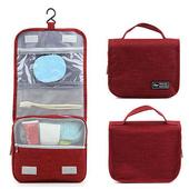 《韓版》都會款 三段式 可懸掛 盥洗 收納包(4色)(紅色)送懸掛式多用途網格收納袋