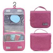 《韓版》都會款 三段式 可懸掛 盥洗 收納包(4色)(粉紅色)送懸掛式多用途網格收納袋