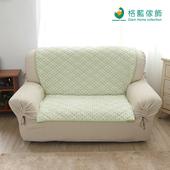 《歐桌拉》北歐風幾何沙發墊-青草綠(2人)