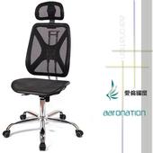 《【aaronation】愛倫國度》【aaronation】愛倫國度 - 機能性椅背 - 辦公/電腦網椅(DW-105H無手有枕鐵腳電氣棒PU)(黑)