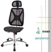 《【aaronation】愛倫國度》【aaronation】愛倫國度 - 機能性椅背 - 辦公/電腦網椅(DW-105H無手有枕鐵腳電氣棒PU)(藍)