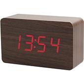 Led木製時尚鬧鐘(長方形)