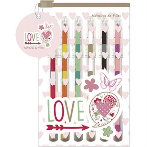 可替換式蠟筆彩色鉛筆6支附夾鏈袋(876375)