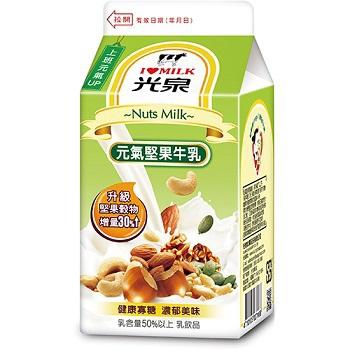光泉 元氣堅果牛乳(400ml/瓶)