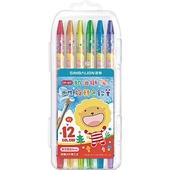 《奶油獅》奶油獅水性旋轉色鉛筆12色(12色/CP-611)