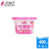 《克潮靈》櫥櫃專用除濕劑400ml-3組(4入/組)-玫瑰香