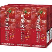 《可果美》100%蕃茄蘋果汁(200ml*6包/組)