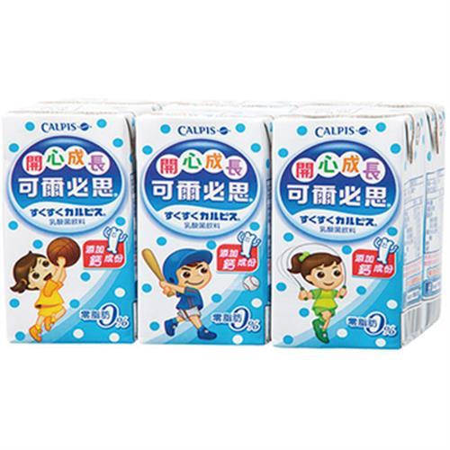 可爾必思 開心成長乳酸菌飲料-鈣(160ml*6包/組)
