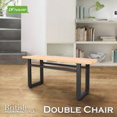《DFhouse》《DFhouse》英式工業風-雙人餐椅(柚木色)