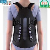《【海夫xMAKIDA】》MAKIDA軀幹裝具(未滅菌)19吋 滑輪 強力 長背架 (115RH-2)(S腰圍:25.5-33.5吋)