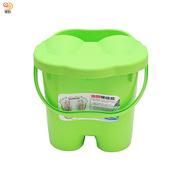 《月陽》日式加高加蓋6滾輪按摩24公升足浴桶按摩泡腳桶(5366)(綠色)
