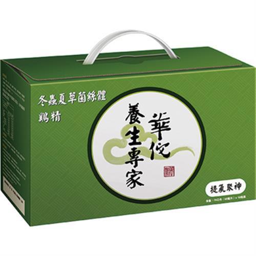《華佗》冬蟲夏草菌絲體雞精 免運(70gx18瓶/盒)