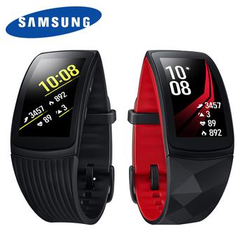 《Samsung》Gear Fit2 Pro SM-R365 藍牙GPS心律手環 運動手環(紅(小))