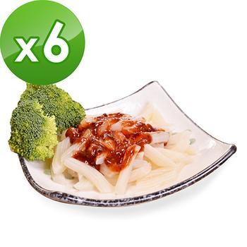 樂活e棧 低卡蒟蒻麵 義大利麵(210g/包,6包組)(番茄紅醬)