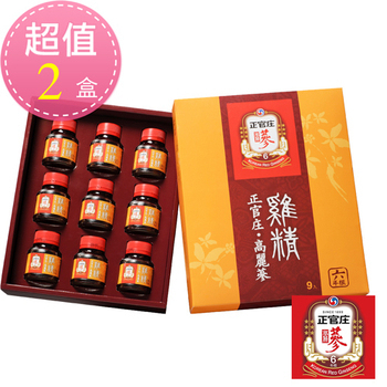 正官庄 即期出清 正官庄 高麗蔘雞精禮盒9入/盒-2盒 共18瓶