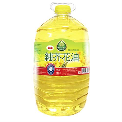 泰山 健康好理由單元不飽和純芥花油(5L/瓶)