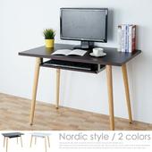 《Homelike》塔奇北歐風電腦桌(二色任選)(胡桃)