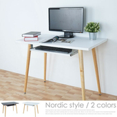 《Homelike》塔奇北歐風電腦桌(二色任選)(純白)