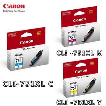 《CANON》CLI-751XL C/M/Y原廠墨水組