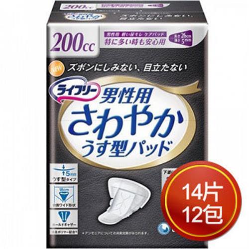 《來復易》男性漏尿專用棉墊(特多量型200cc/14片*12包)