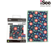 《iSee》iSee 萬用雙面雙效擦拭布(15x10cm)(IS-MC1510)3入(藍花)