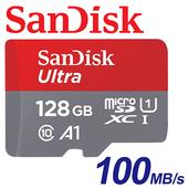 《SanDisk》128GB 100MB/s Ultra microSDX C TF U1 A1 記憶卡 (公司貨)