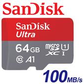 《SanDisk》64GB 100MB/s Ultra microSDXC TF U1 A1 記憶卡 (公司貨)