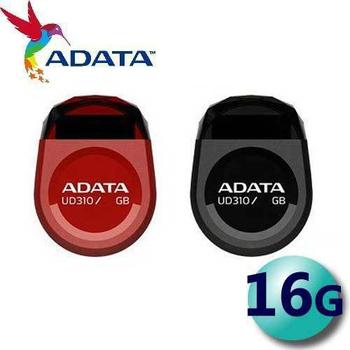 《威剛 ADATA》16GB UD310 USB2.0 隨身碟 迷你寶石碟(黑色)