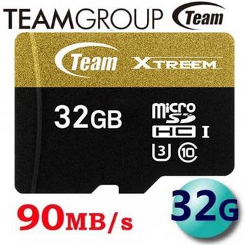 TEAM 十銓 32GB Xtreem 90MB/s U3 microSDHC UHS-I 高速記憶卡