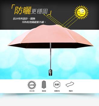 《揪揪購》反向自動伸縮晴雨傘(四色可選)(亮粉紅)