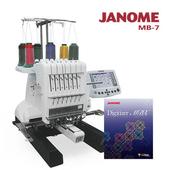 《日本車樂美JANOME》買一送一↘MB-7職業刺繡機加送軟體組合(MB7D)(MB7D)贈送價值$98800刺繡軟體