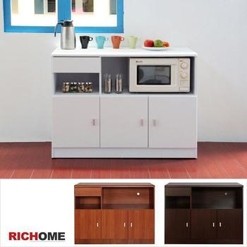 RICHOME HOME米娜防潑水三門一抽廚房櫃-3色(白色)