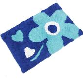 布安於室-花心純棉踏墊-藍色(2入)