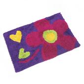 布安於室-花心純棉踏墊-紫色(2入)