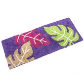 布安於室-三葉彩純棉長踏墊-紫色