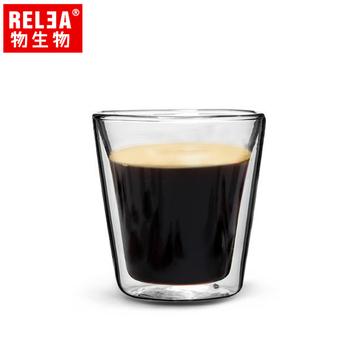 ★結帳現折★香港RELEA物生物 110ml耐熱雙層玻璃義式濃縮咖啡杯