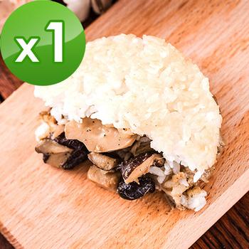 《樂活e棧》素沙茶鮮菇 米漢堡-素食可食(6顆/包,共1包)