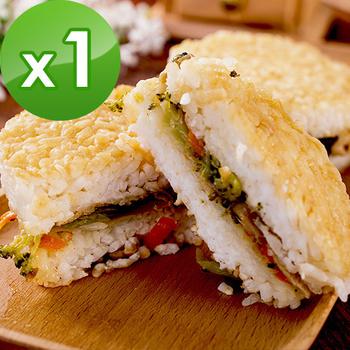 《樂活e棧》鮮蔬 米漢堡-素食可食(6顆/包,共1包)