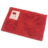 布安於室-刺繡純棉踏墊(超值2入組)(紅色)