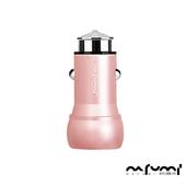 《NAFUMI 納福米》3.1A雙USB車載充電器/車充(C11)(玫瑰金)