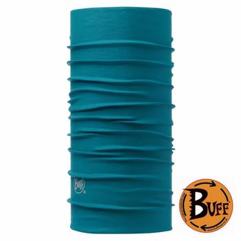 《BUFF》湖水藍綠 素面頭巾 #BF107850