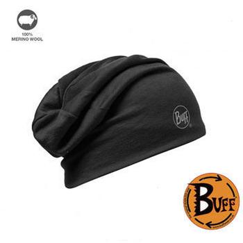 《BUFF》美麗諾羊毛雙面帽-神秘黑/都會灰 #BF111174-999-10