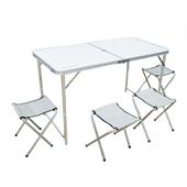 《TECHONE》戶外鋁合金桌椅組 可折疊便攜式鋁合金套裝桌椅 室內室外用皆宜(不含袋子)(共同)