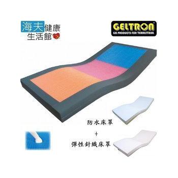 《海夫健康生活館》日本原裝 Geltron Exceed 凝膠床墊 安眠舒壓床墊 (KEH-91H150TP)(綠灰綠 BMI 14~17適用)