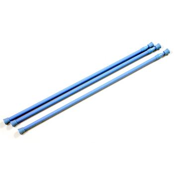 布安於室-粉藍色門簾伸縮桿約64-102cm(3入組)