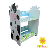 《Kikimmy》乳牛雙層木製書架