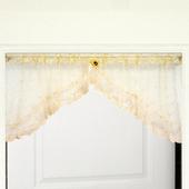 布安於室-蔷薇刺繡短門簾