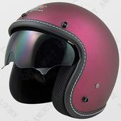 《台灣製》806車線內鏡安全帽-M(平桃紫)