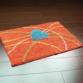 布安於室-心線純棉踏墊(2入)-紅橘