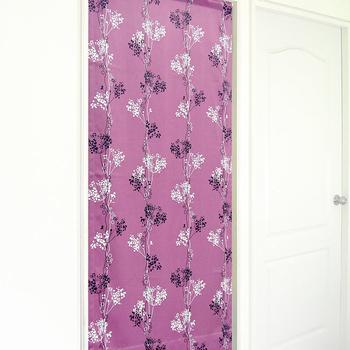 布安於室-點線花影遮光風水簾(紫色)